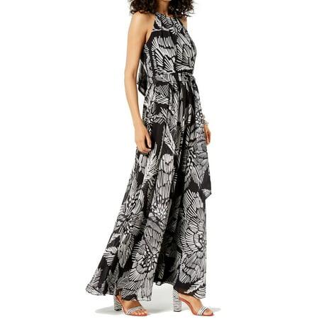 b3792cd1b046a INC Dresses - INC White Womens Petite Printed Halter Maxi Dress -  Walmart.com