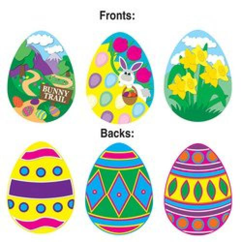 Easter Egg Cutouts Party Accessory (1 count)