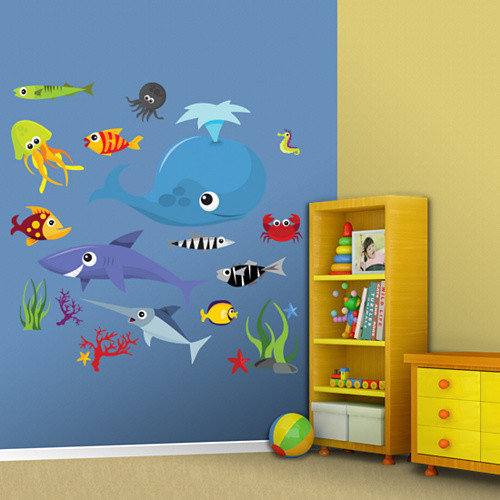 Fathead Sea Creatures Group Two Wall Decal