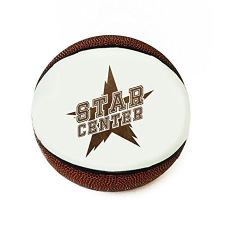 Star Position 3D Laser Engraved Miniature Toy 5 inch Basketball (Center)