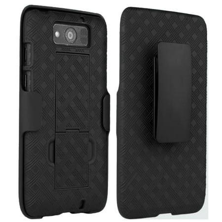Motorola DROID MAXX / XT-1080M Slim Hard Shell Shield Layer Holster Case with Kickstand