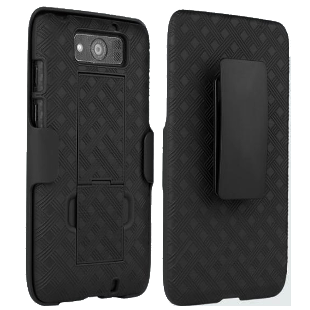 Motorola DROID MAXX / XT-1080M Slim Hard Shell Shield Layer Holster Case with Kickstand