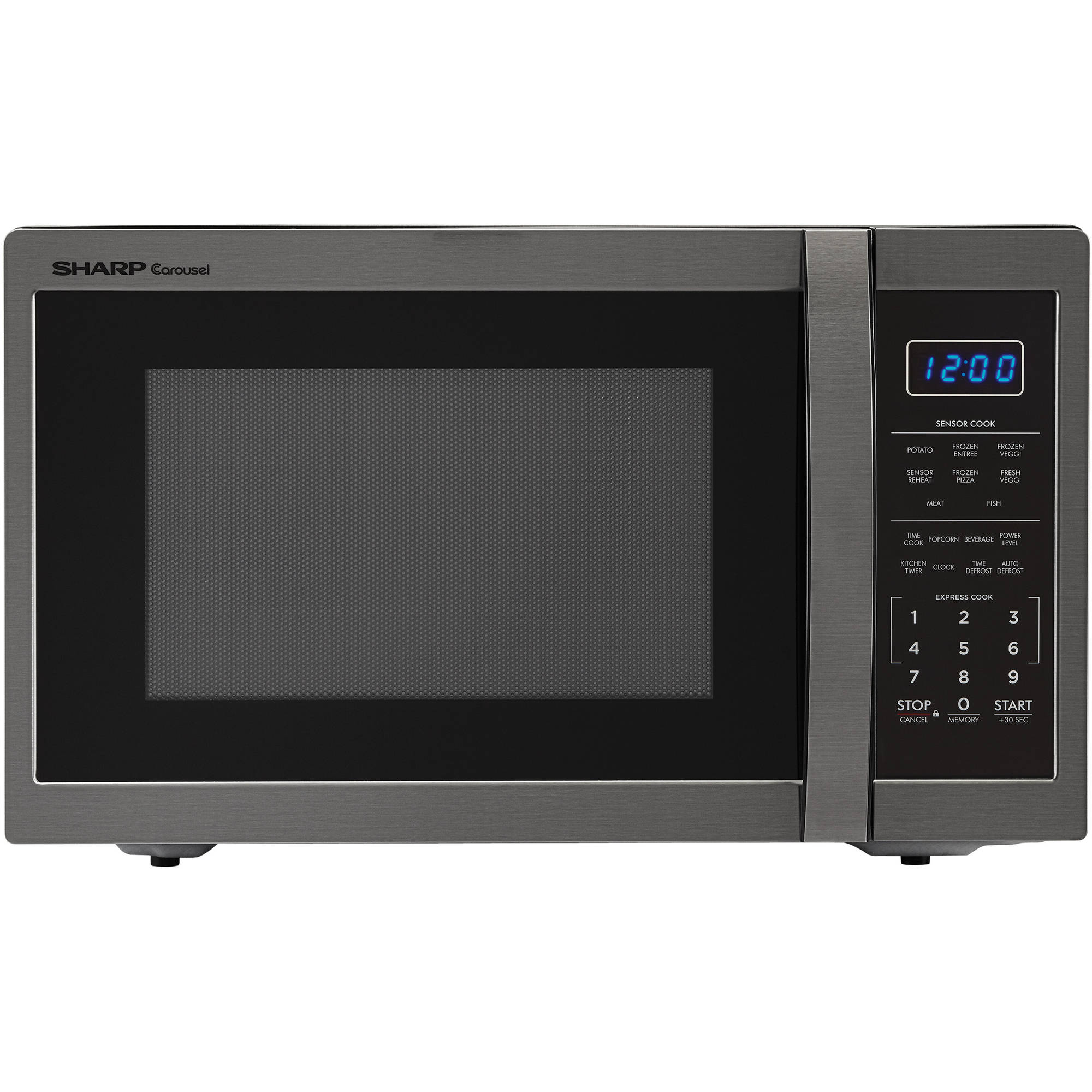 Sharp ZSMC1452CH 1.4 Cu Ft Microwave, Black Stainless Steel