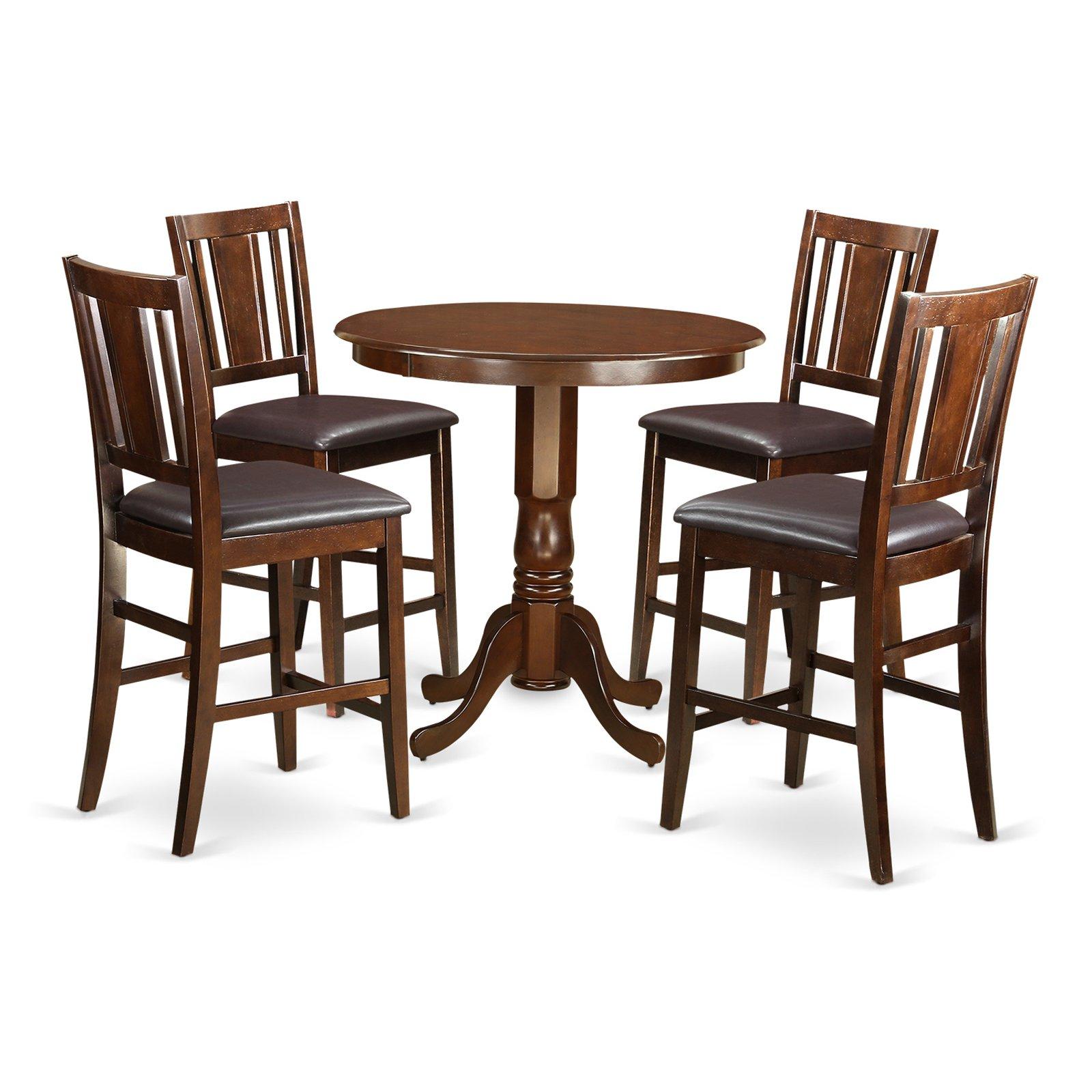 East West Furniture Jackson 5 Piece Scotch Art Dining Table Set