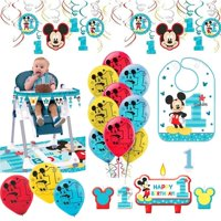 Product Image Mickey Mouse First Birthday Fun To Be One 1st Party Supplies Decoration Pack