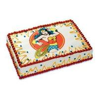 Wonder Woman Birthday ~ Edible Frosting Image Cake Topper 1/4 sheet