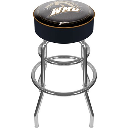 Trademark Global Western Michigan University 31u0022 Padded Bar Stool
