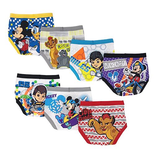 Disney Mickey and Friends Toddler Boy Underwear, 7-Pack