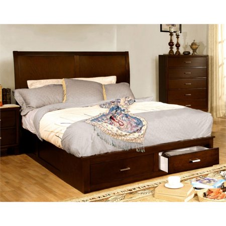 Furniture of america ruggend california king storage for Furniture of america king bed