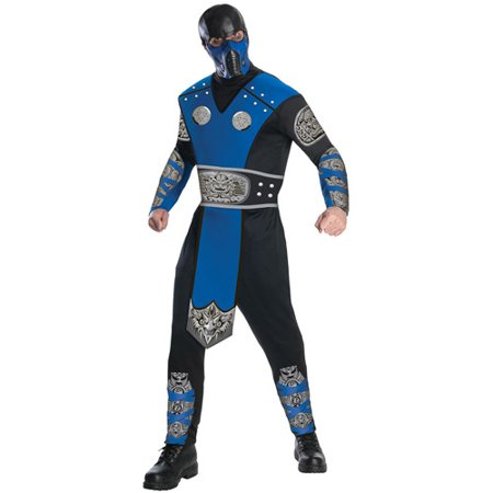 Mortal Kombat Sub-Zero Adult Halloween Costume (Kids Mortal Kombat Scorpion Costume)