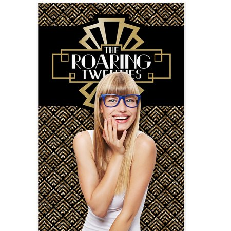 1920s Party Attire (Roaring 20's - 1920s Art Deco Jazz Party Photo Booth Backdrop - 36
