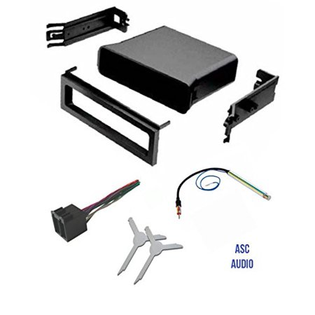 Asc Audio Car Stereo Dash Pocket Kit  Wire Harness  Antenna Adapter  And Radio Removal Tool For Installing A Single Din Radio For Vw Volkswagen  1999 2000 2001 Golf   Gti  Jetta  Passat
