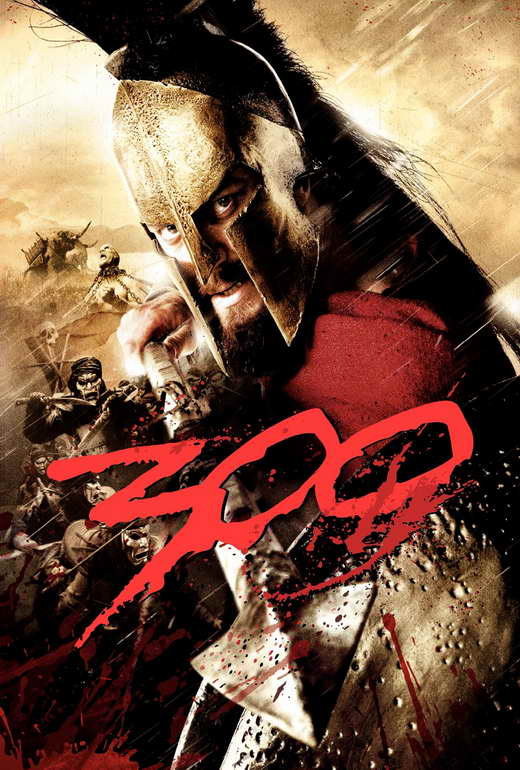 300 Movie Poster 27x40 E Gerard Butler Lena Headey David Wenham Dominic West