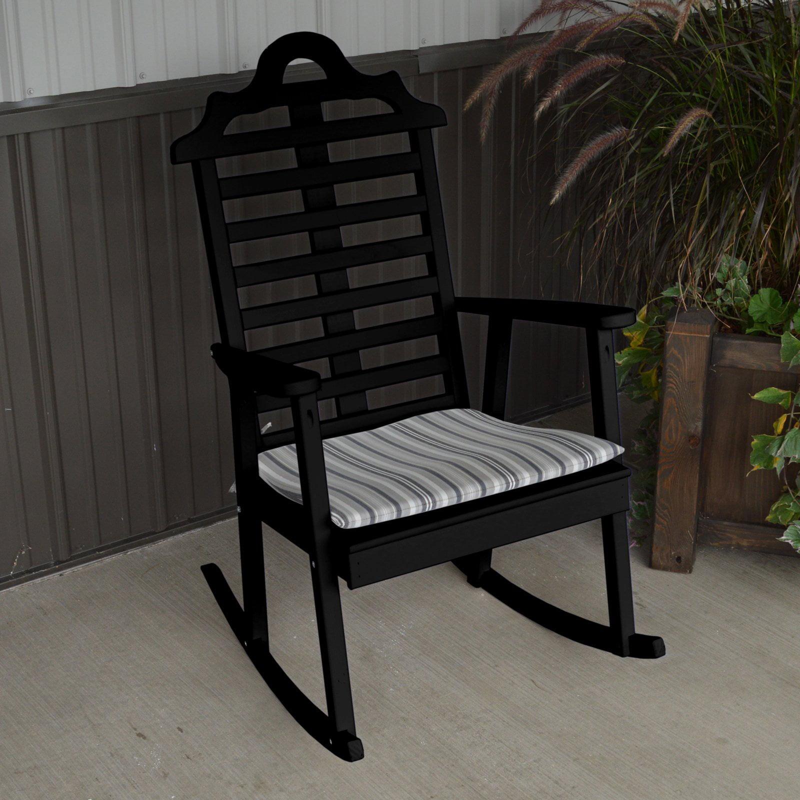 A & L Furniture Yellow Pine Marlboro Porch Rocker