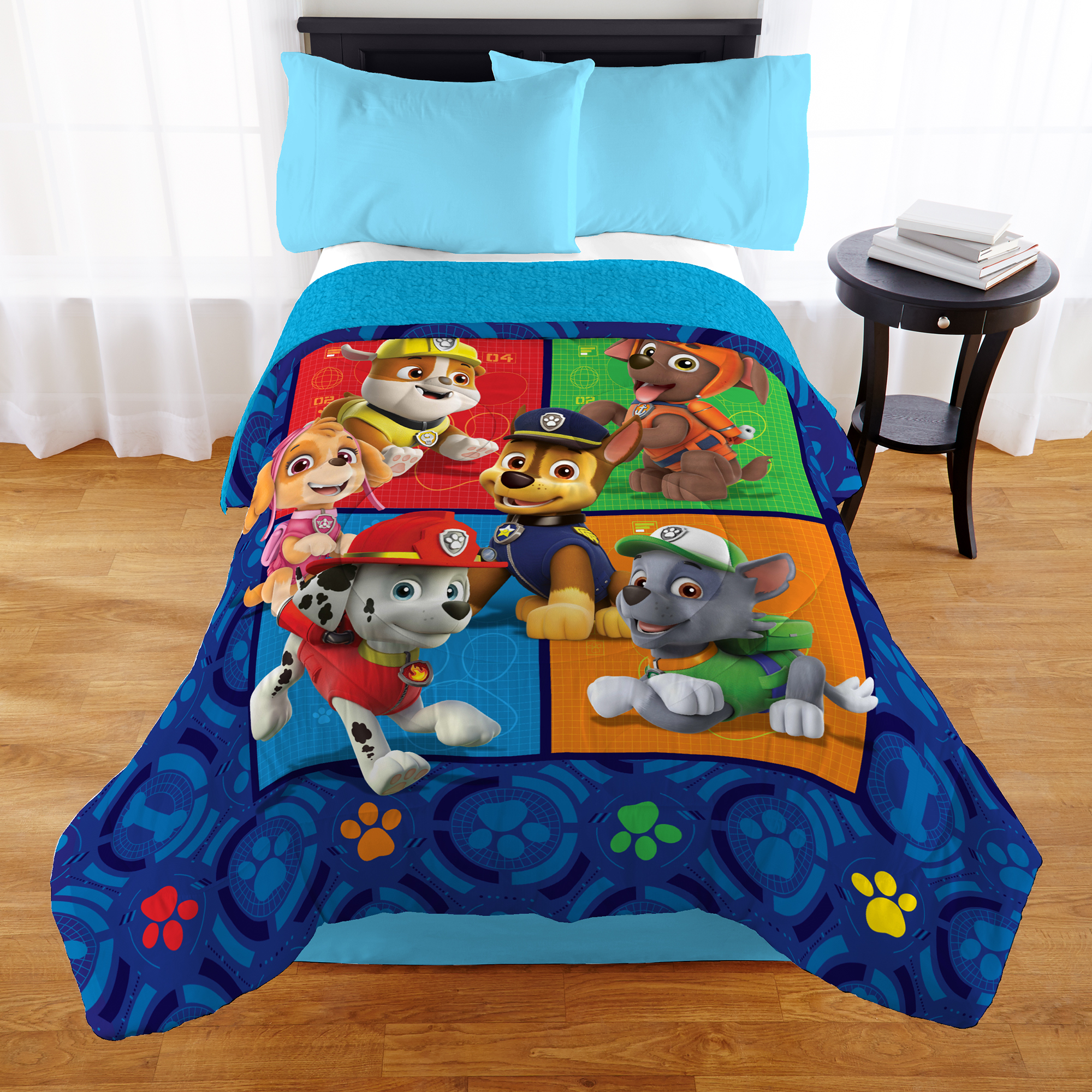 Paw Patrol 'Find Your Wag' Kids Bedding Sherpa Comforter, Twin Full by Franco Manufacturing