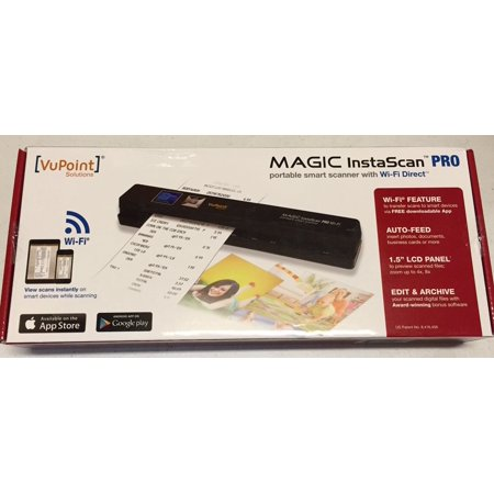 Vupoint Magic InstaScan PRO WIFI Auto Sheet Feed Portable smart scanner  (PDSWF-ST48R-VP) Wireless Handheld