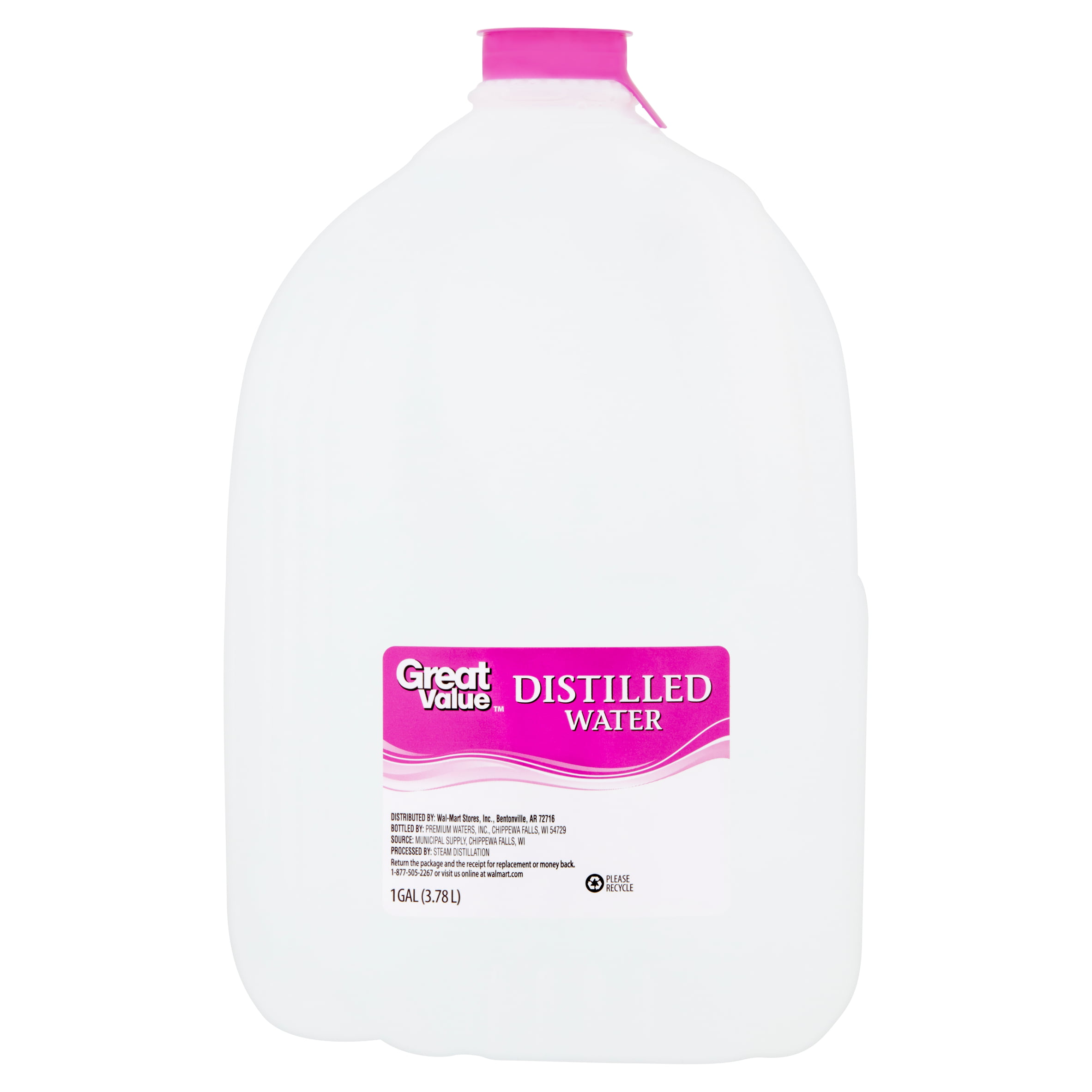 Great Value Distilled Water, 1 Gallon - Walmart com