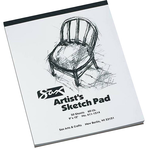 Sax Artists Sketch Pad, White, 50 Sheets