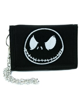 9da6f94ace417 Product Image Negative Jack Skellington Tri-fold Wallet w  Chain Nightmare  Before Christmas