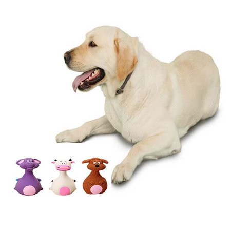 Cute Funny Squeaky Dog Cat Toys Latex Chew Sound Toys Pet Teeth Clean Toy white