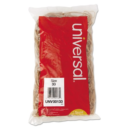 Universal Rubber Bands, Size 33, 3-1/2 x 1/8, 640 Bands/1lb Pack - Omega Rubber Band