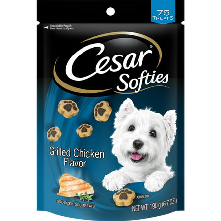 Cesar Softies Dog Treats, Grilled Chicken Flavor, 6.7 oz. Pouch (75 -