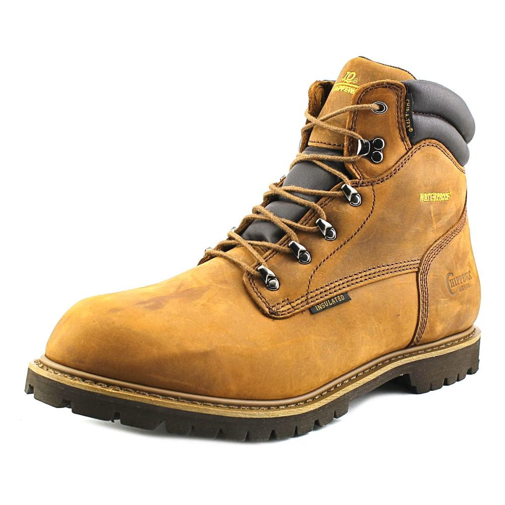 Chippewa 55053 Men XW Round Toe Leather Brown Work Boot