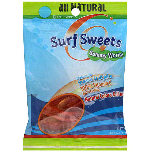 Surf Sweets Gummi Worms, 2.75 oz (Pack of 12)