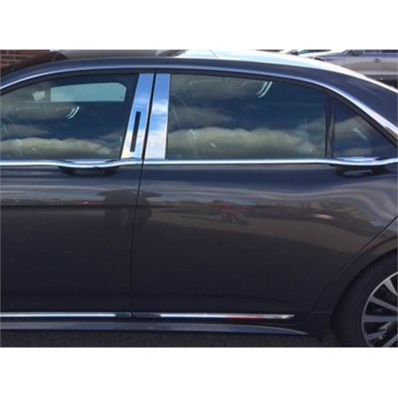 Stainless Steel Pillar Post Trim for 2017 LINCOLN