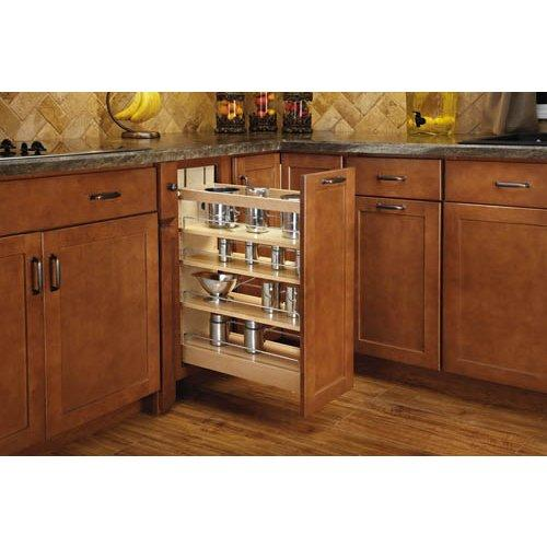 Rev-A-Shelf  448-BCSC-8C  Pull Out Organizers  448  Base Cabinet Organizers  Shelves  tural/Wood