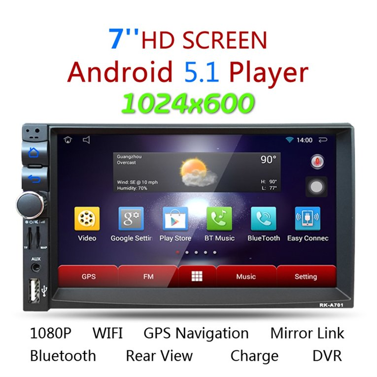 """7"""" Inch Double 2Din HD Car Stereo GPS MP5 MP3 Player Bluetooth Radio"""
