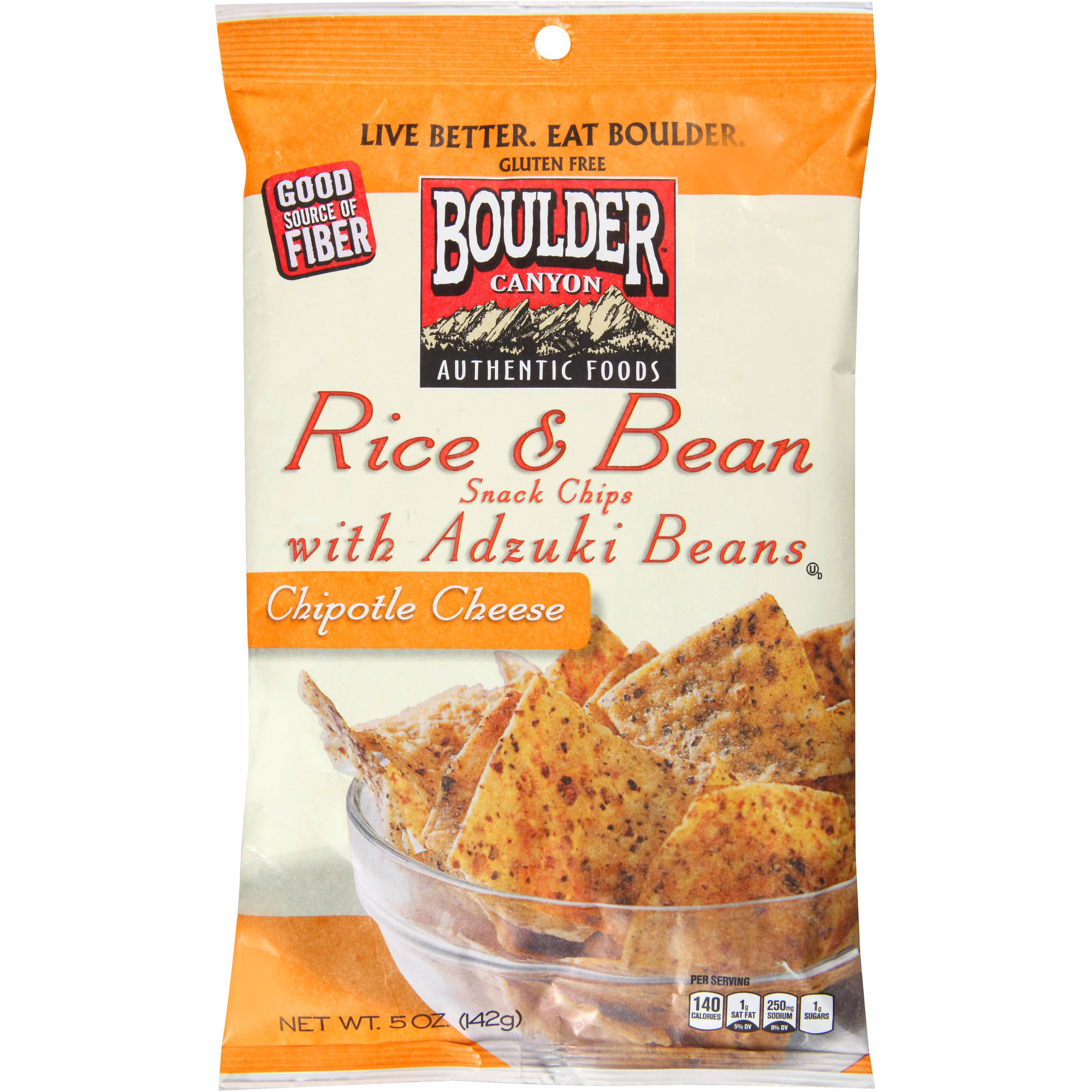 Boulder Canyon Natural Foods Rice & Bean Chipotle Cheese Snack Chips with Adzuki Beans, 5... by Boulder Canyon