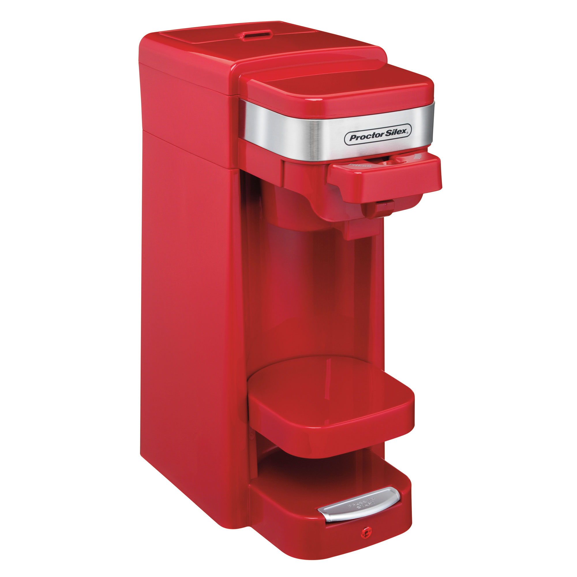 Proctor Silex FlexBrew Single Serve Pack or Ground Coffee Maker, Red | 49977