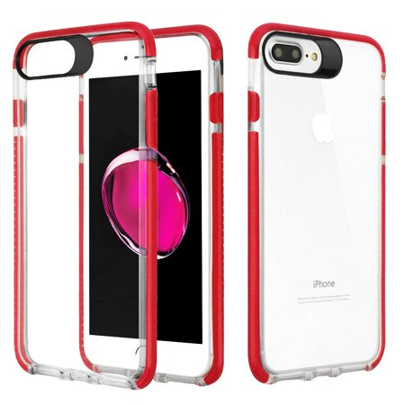 super popular ec0c7 d93ab iPhone 8 Plus Case, iPhone 8 Plus Clear Case, by Insten Transparent Clear  Soft TPU / Flexible TPE Bumper Sturdy Candy Skin Hybrid Cover for iPhone 8  ...