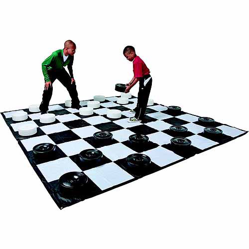 """School Specialty Chess Checkers Giant Mat Game, 120"""" x 120\ by Dom"""