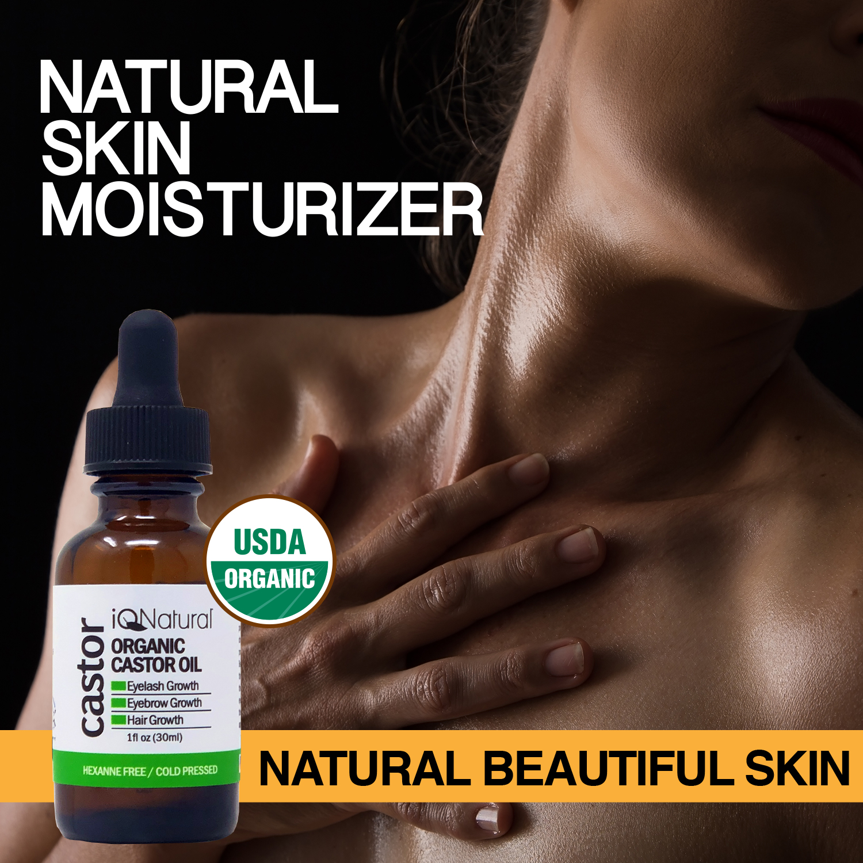 Organic Castor Oil - 100% USDA Certified Pure Cold Pressed - Boost