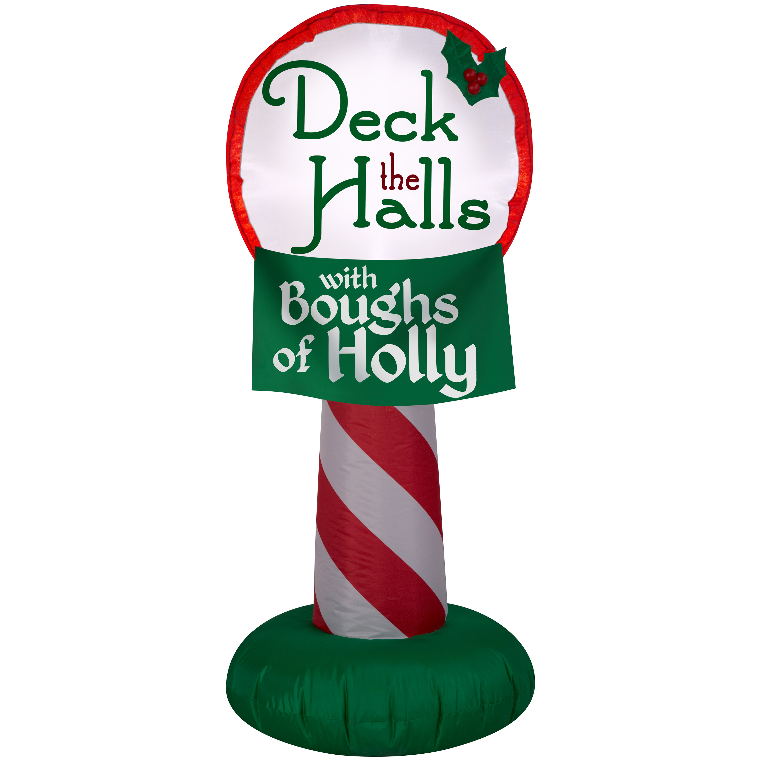 Airblown Inflatable-Deck the Halls Sign 3.5ft by Gemmy Indusrties