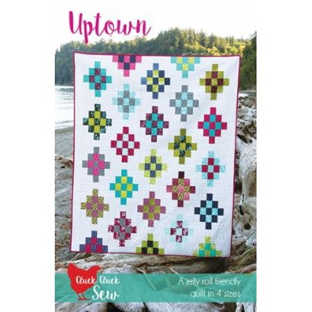 Clearance Sale~Pattern, Uptown by Allison Harris, 4 Sizes Modern Quilt, Uses pre-cut strips