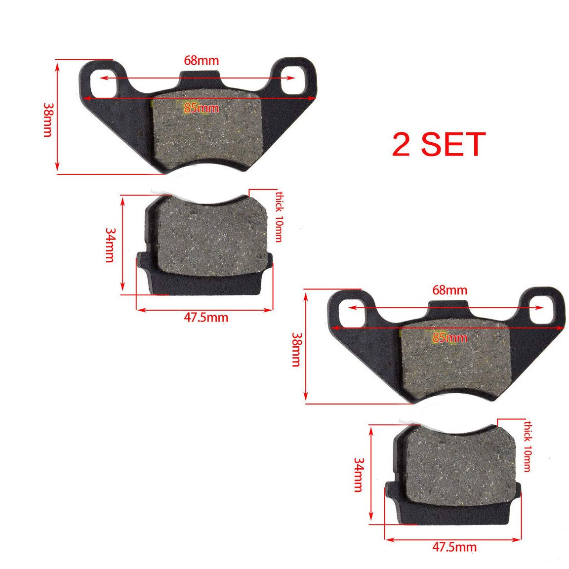 Hammerhead SS 250 GO KART, Front Brake Pads left /& right side compatible with Hammerhead 150cc Go Karts GL150 GT150 GTS150 SS150 part# 7.020.016