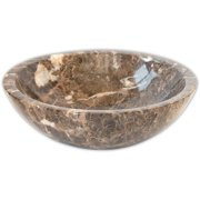 Eden Bath EB-S002DE-P Dark Emperador Vessel Sink Bowl