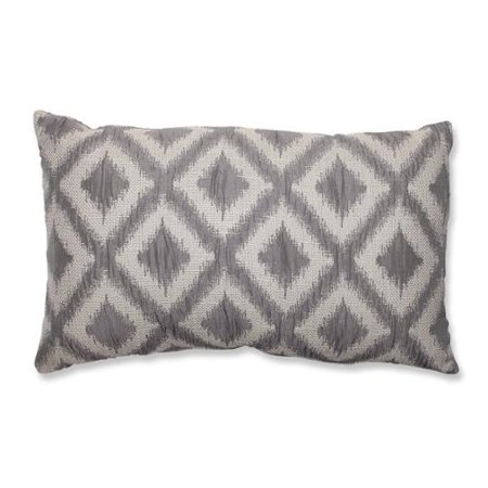 Grey Rectangular Throw Pillow : 18.5