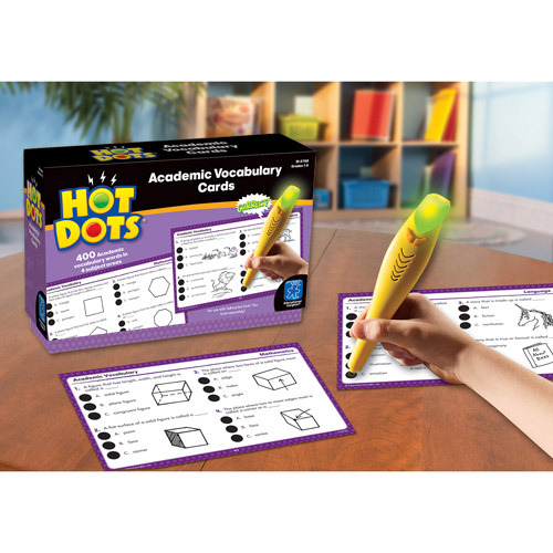 Educational Insights Hot Dots Academic Vocabulary Cards, Grades 1-3