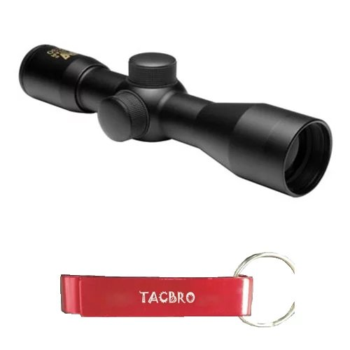 TACBRO 4X30 Compact Tactical Rifle Airsoft P4 Sniper Reticle Scope with One Free TACBRO Aluminum Opener(Randomly... by