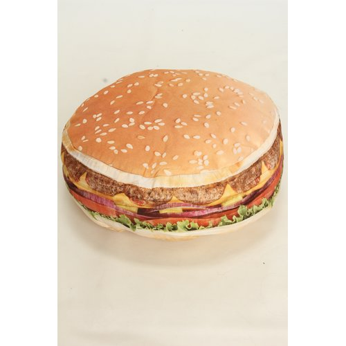 Wow Works LLC Hamburger Throw Pillow