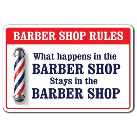 ... BARBER SHOP Novelty Sign gift men club haircut stylist salon - Walmart