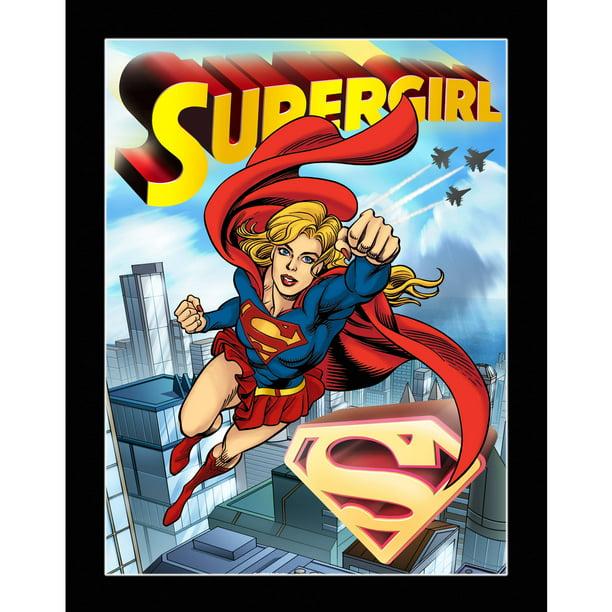 DC Comics Supergirl Sonic Boom 3D Matte Print