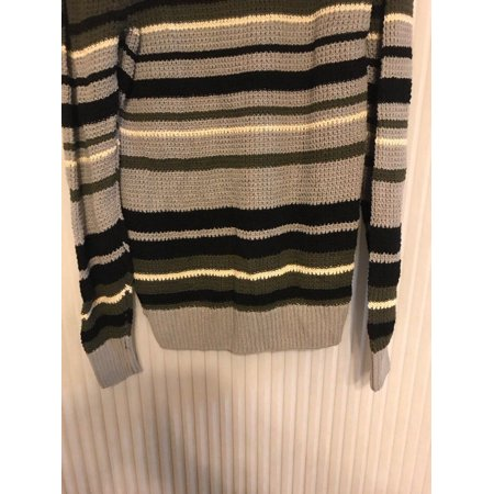 94f47e40f9 Rue 21 Carbon Womans XXL Grey and Green Striped Sweater Ships N 24h -  Walmart.com
