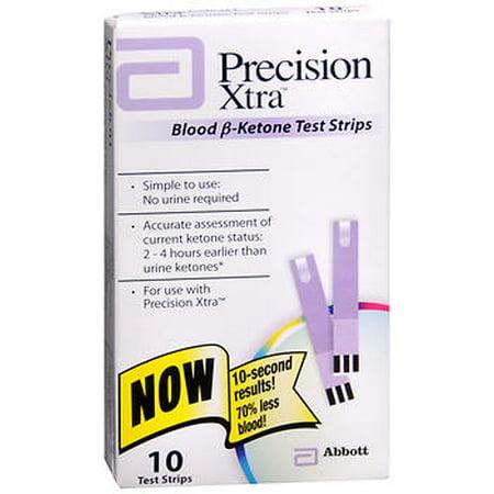 Precision Xtra Blood B Ketone Test Strips   10 Ct