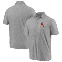 Men's Majestic Gray St. Louis Cardinals Standard Bearer Polo
