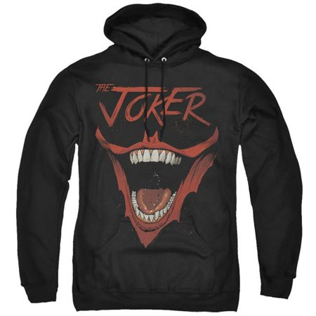 Trevco Sportswear BM2934-AFTH-3 Batman & Joker Bat Laugh-Adult Pull-Over Hoodie, Black - Large - image 1 of 1